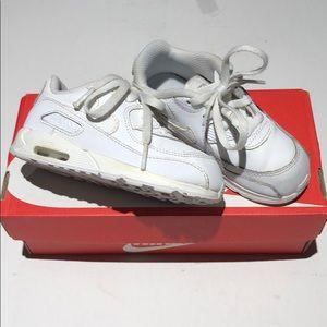 Nike air max 90 (TD) size 8C white 408110-167